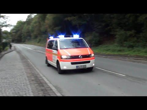 Einsatzfahrten MANV Übung in Ennepetal