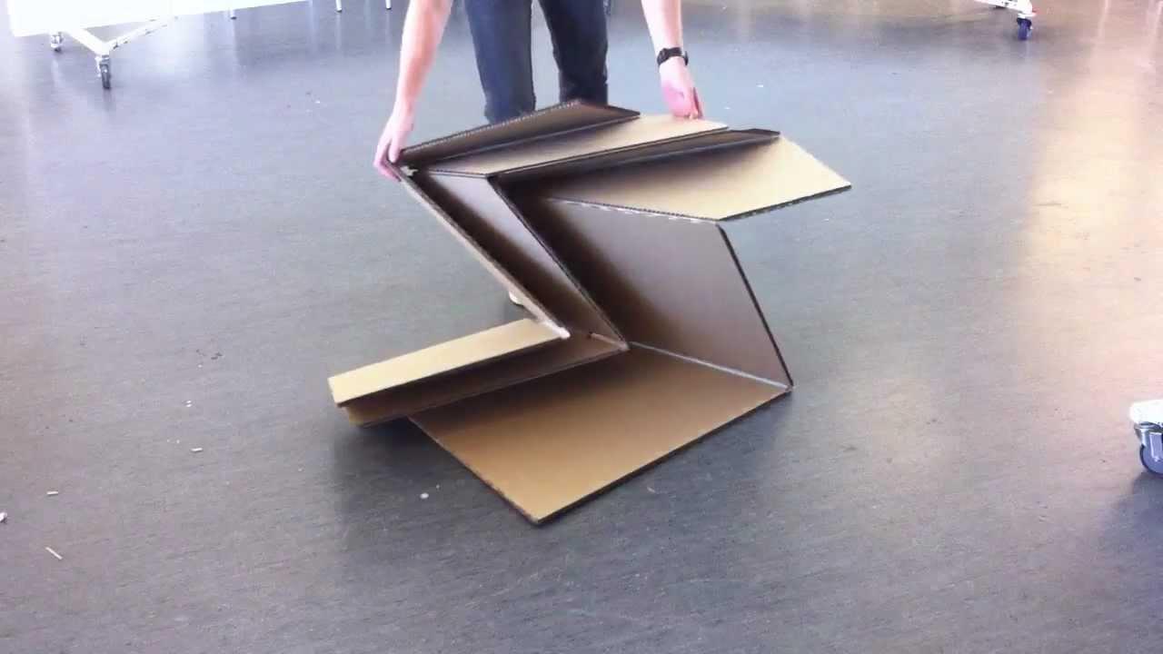 Thick Rigid Origami - Cardboard Model - YouTube - photo#4