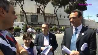 Movimento 5 Stelle Marcello De Vito Programma Day 28 maggio 2013 Fori Imperiali Roma M5S