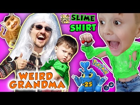 WEIRD GRANDMA & SLIMY GRANDSON! 5 Months of POKEMON GO #25 (