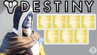 destiny exotic engram opening 7 exotic engrams decoding live w unknown player helmet exotics