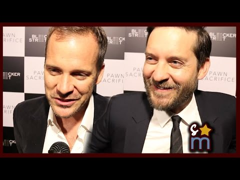 PAWN SACRIFICE Premiere Interviews: Tobey Maguire, Peter Sarsgaard, Lily Rabe