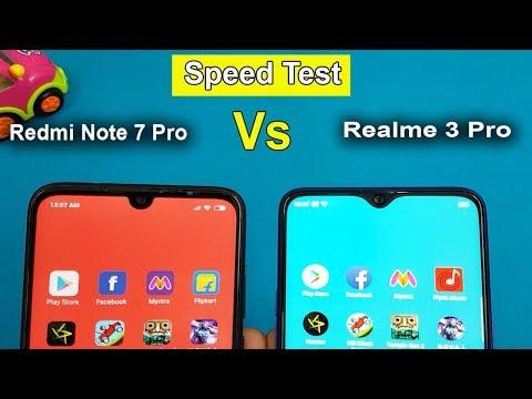 Redmi Note 7 PRO Vs Realme 3 Pro  Speed Test / Comparison || AnTuTu Benchmark Scores