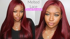 Flawless BURGUNDY RED 13X6 Lace Front Wig Install  | Afsisterwig
