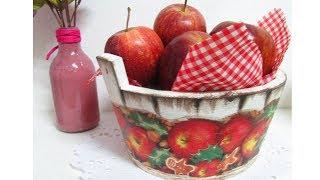 Decoupagem em Cesto para Frutas