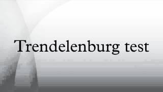 Trendelenburg varizes brodie teste