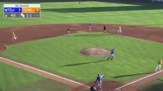 Tennessee Baseball vs MTSU Highlights