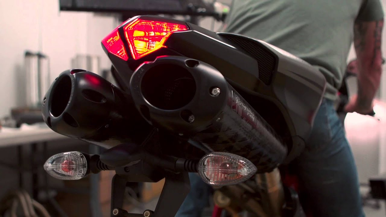 two brothers racing - 2013 ducati 848 dual slip-on exhaust system