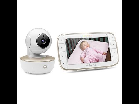 """Motorola MBP855CONNECT Portable 5"""" Video Baby Monitor With Wi-Fi Viewing, Rechargeable Camera"""
