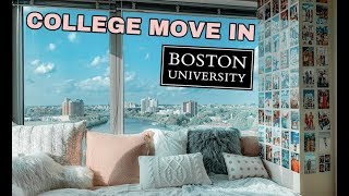 VLOG 25: College Move In 2019 At Boston University + Dorm Tour
