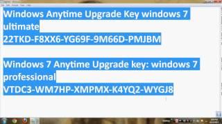 Windows 7 Ultimate Original Key