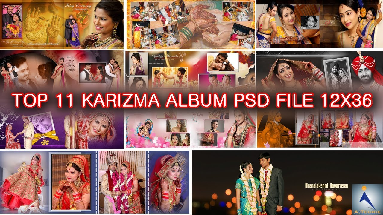 Free Download 12x36 Psd Wedding Karizma Album Design Psd Templates Top 12 Collection