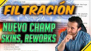 FILTRACIÓN - Nuevo CAMPEÓN, Reworks, SKINS | Noticias League Of Legends LoL