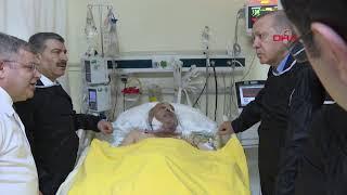 Cumhurbaşkanı Erdoğan'ın enkaz alanı ve hastane içinde çekilen görüntüleri