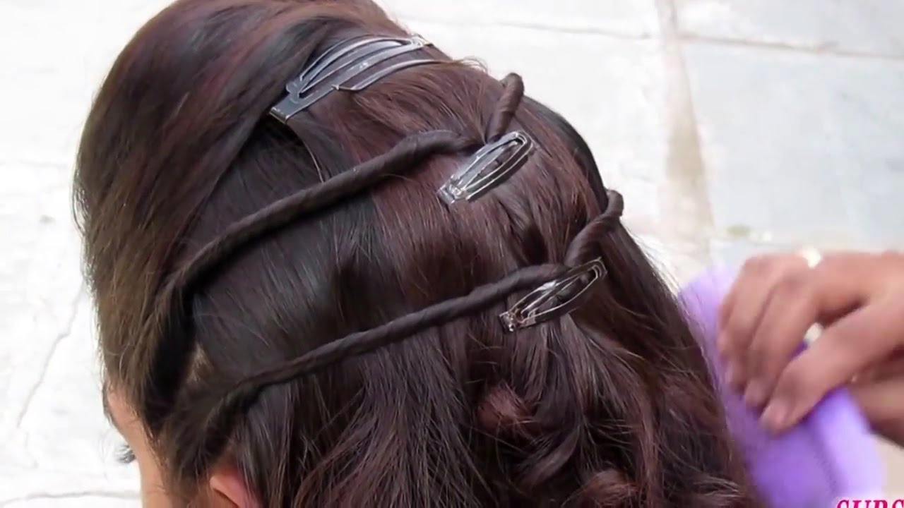 simple hairstyle for party & wedding