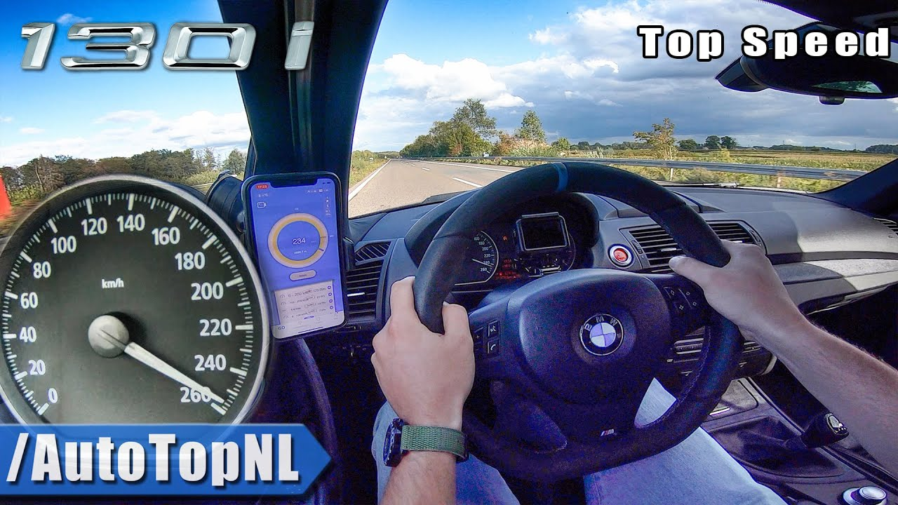 BMW 130i E87 TOP SPEED on AUTOBAHN (No Speed Limit) by AutoTopNL