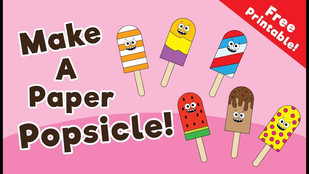 image regarding Popsicle Printable identify Printable Popsicle Activity for Young children - 10 Minutes of High-quality Season