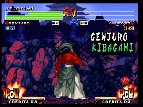 Samurai Shodown IV: Rasetsu Genjuro Playthrough / Lvl-8 【60fps】