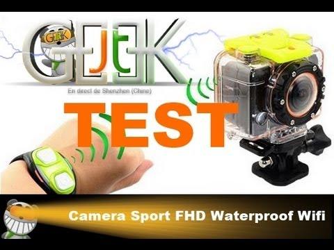 Test de caméra Sport Full HD étanche wifi Iron-X par GLG du JT du JT Geek