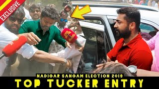 Thalapathy Vijay and Surya Top Tucker Entry at Nadigar Sangam Elections 2019"