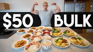 $50 FOR A WEEK OF BULKING : Meal Prep on a Budget with Zac Perna