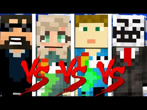I HAVE NO FRIENDS CHALLENGE   Minecraft Bed Wars 1v1v1v1