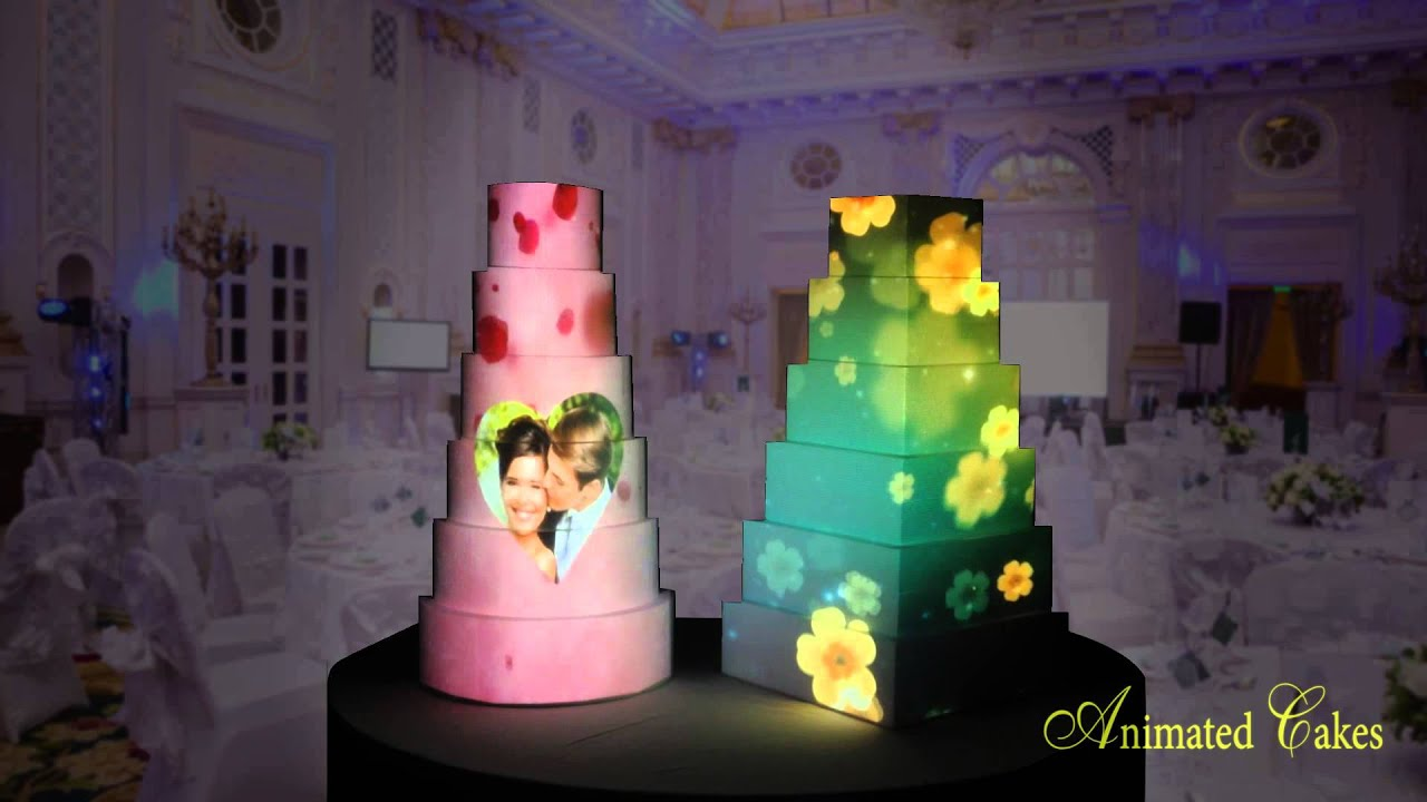 Animated Cakes Projection Mapping Birthday Amp Wedding