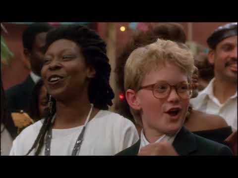 Neil Patrick Harris e Whoopi Goldberg cantando, filme Clara (Clara's Heart), 1988.