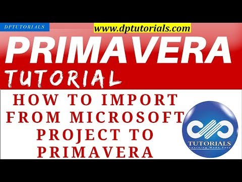 How To Import From Microsoft Project To Primavera    Learn Primavera   Dptutorials