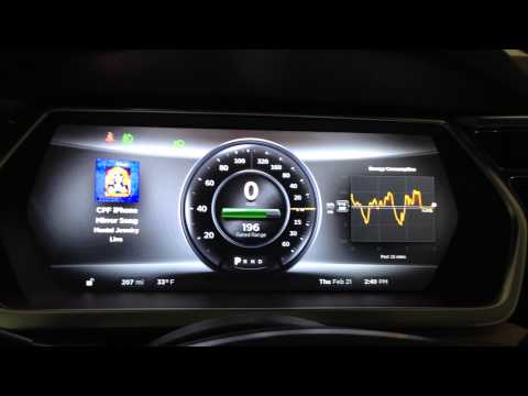 Tesla Model S Driver Display Overview