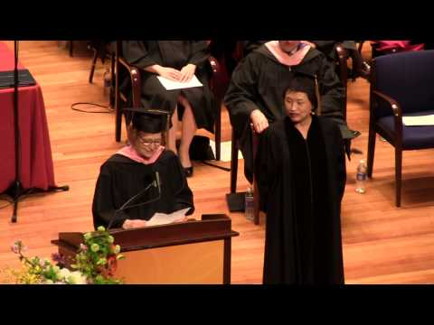 Kyung-Wha Chung 정경화 receiving doctorate of Music 2015