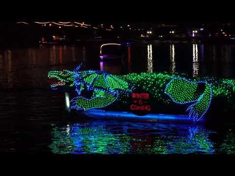 2017 Fantasy of Lights Tempe Boat Parade -12/9/2017 - Tempe AZ - 4K