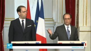 فرانسوا هولاند يستقبل رئيس الحكومة التونسية يوسف الشاهد
