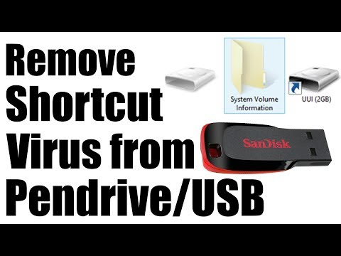 How to remove virus from Pendrive / External HDD | Virus cleaner | Windows 10 Tutorial