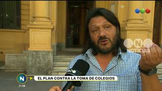 Plan contra la toma de colegios- Telefe Noticias