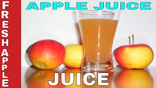 Gambar cover How to make fresh Apple Juice || Homemade Apple Juice