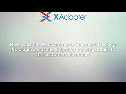 How does the WooCommerce Shipment Tracking Pro plugin send tracking details?