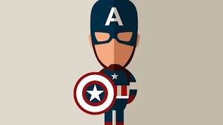 How to Draw a Captain America Flat Design using Corel Draw
