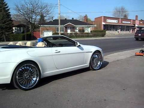 Convertible Bmw 645 0n Staggered 22 S Youtube