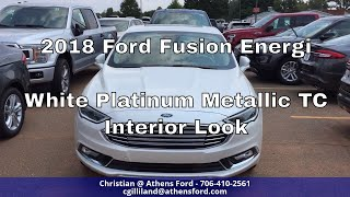 2018 Ford Fusion Energi Titanium - White Platinum Metallic Tri-Coat - Interior Look