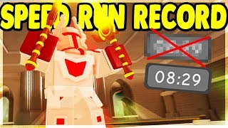 BREAKING THE *OFFICIAL* WORLD RECORD SPEED RUN IN KINGS CASTLE | Roblox: Dungeon Quest