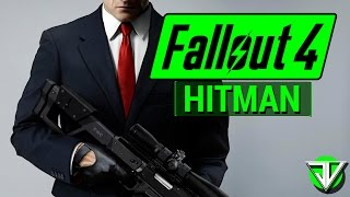 FALLOUT 4: Agent 47 HITMAN Sniper Assassin Character Build!