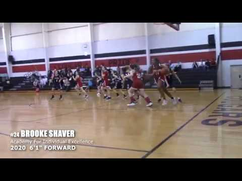 "BROOKE SHAVER - 2020  6'1"" FORWARD Academy For Individual Excellence"