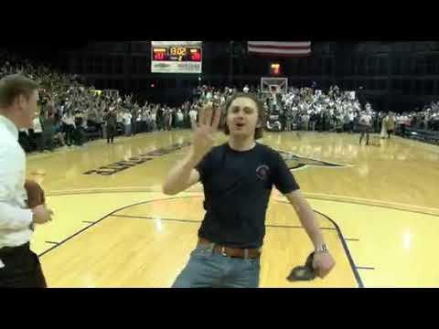 Joe Thompson Wins The Rib & Chop House $11,111 Basketball Shootout At MSU Vs. UM Basketball Game.