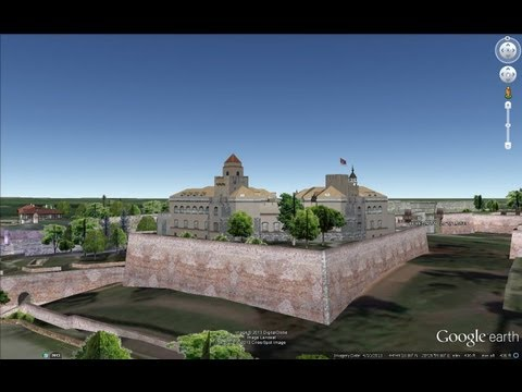 ANCIENT CASTLES OF SERBIA IN GOOGLE EARTH