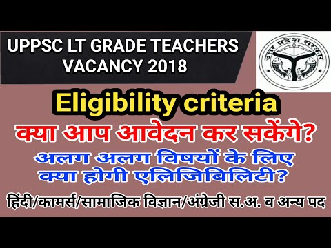 LT GRADE TEACHER RECRUITMENT 2018- ELIGIBILITY/QUALIFICATION FOR VARIOUS SUBJECT TEACHER