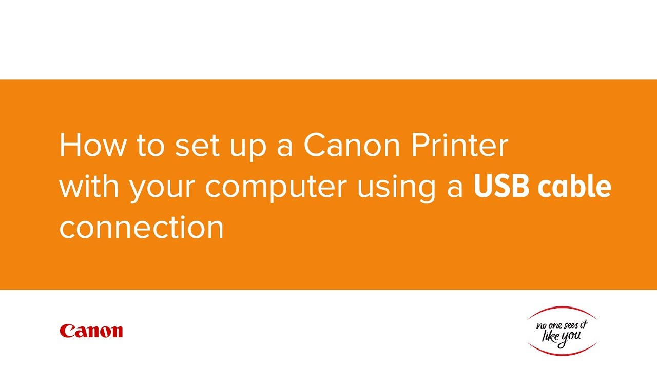 How To Set Up Your Canon Printer With Computer Using A Usb Cable Wiring Connections Connection