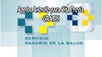 Pide Cita Previa con tu Médico con esta App  (Válido para Canarias)