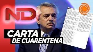 La carta de Alberto Fernández a un mes de cuarentena