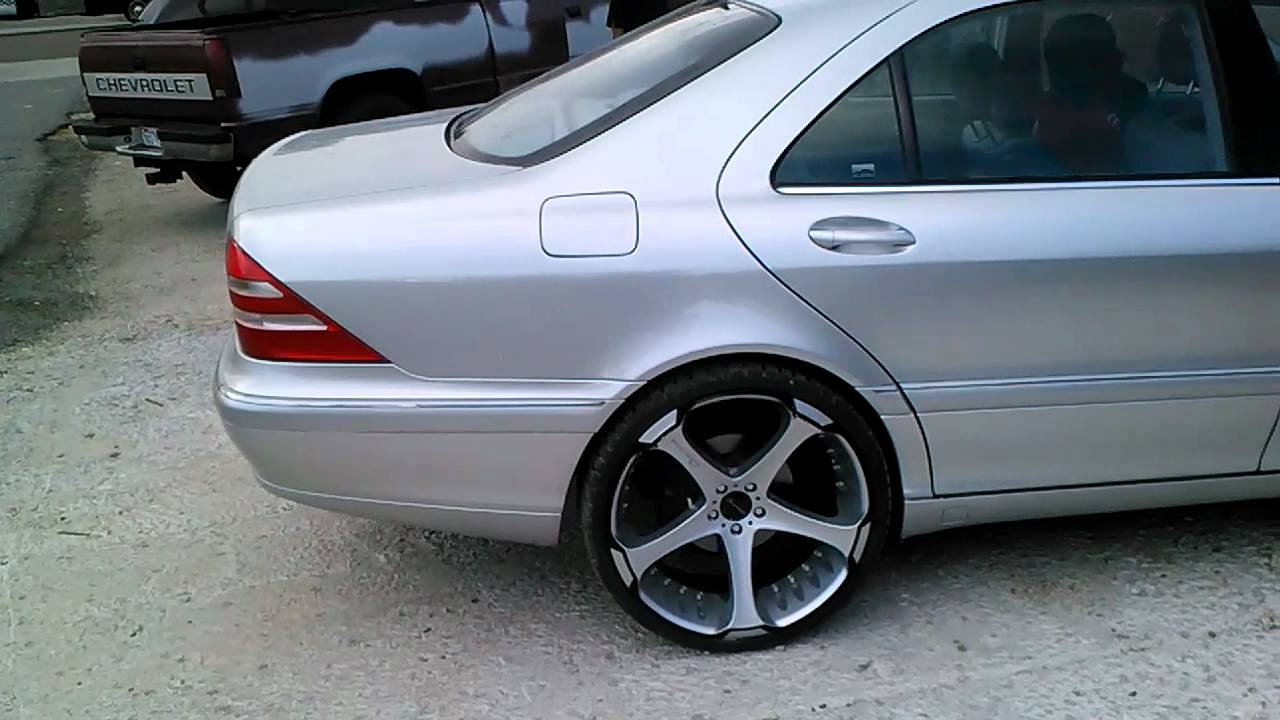 "2001 mercedes s500 on 22"" platinum silver - YouTube"